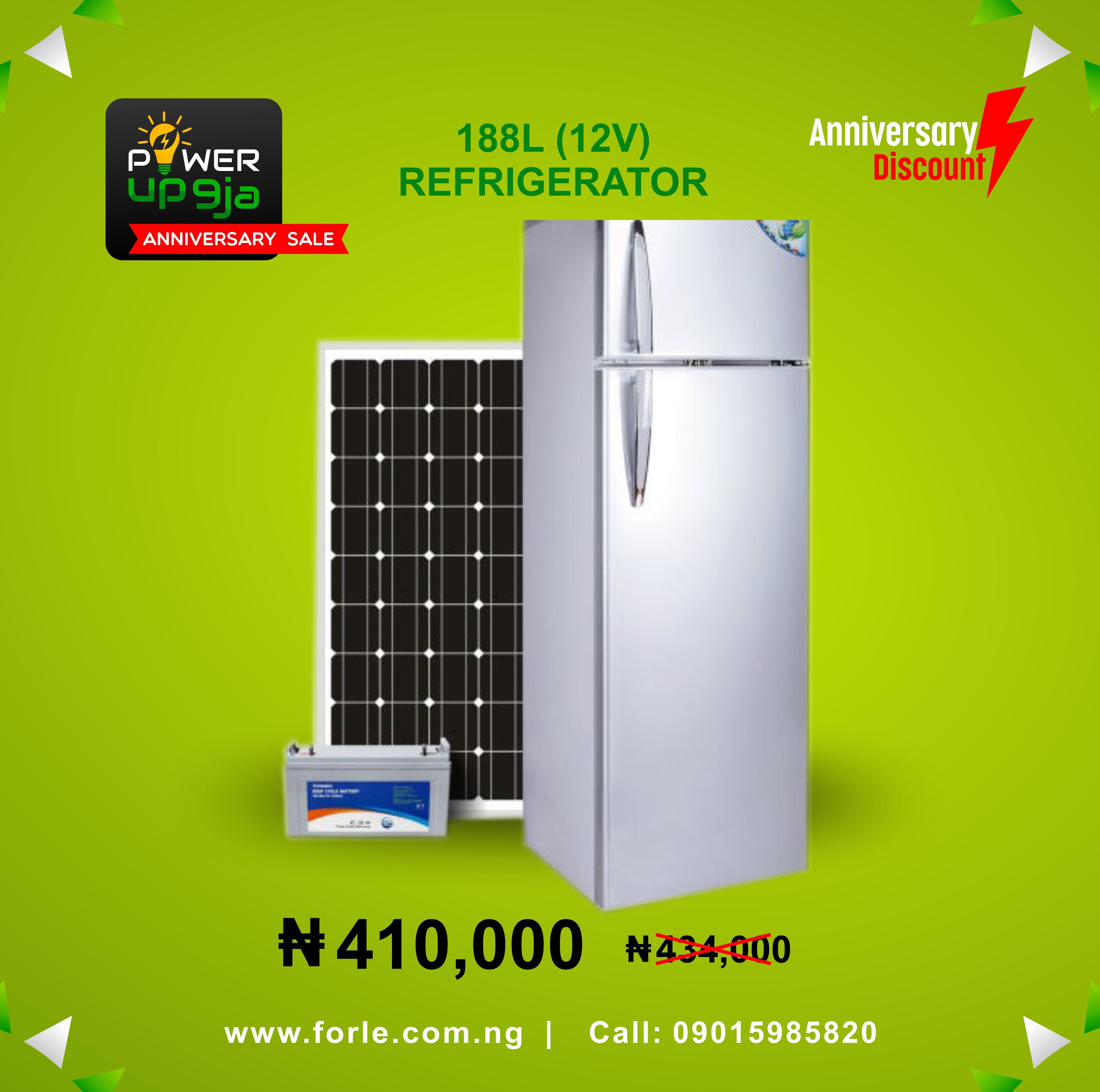 188L(24V) Solar Refrigerator + Panel & Battery